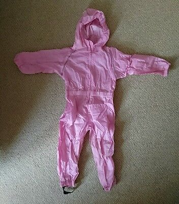 Suit in a Sack Waterproof All in One Raincoat Pink 2-3 Years