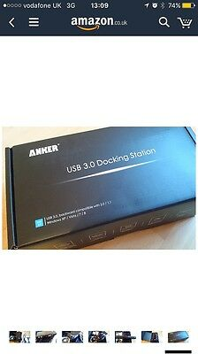 DD565 Anker USB 3.0 Dual Display Docking Station with DVI/HDMI of up to 2048 x 1