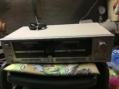 SANYO RD W310 Silber Tape Deck Double Cassette **TOP**