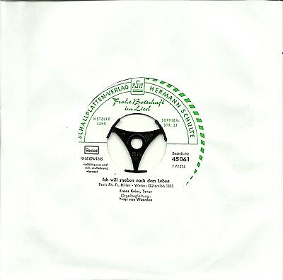 """SG 7"""" - Frohe Botschaft - Franz Knies - HSW 45061 (2 Songs)"""