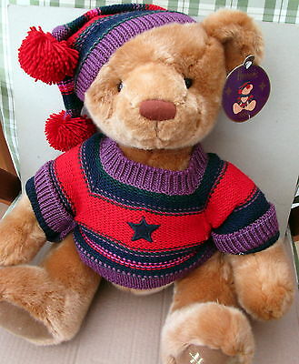 Harrods Christmas Plush Teddy C2004 With Tags