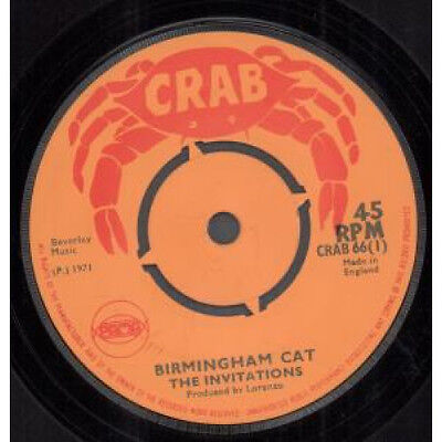 """INVITATIONS (REGGAE GROUP) Birmingham Cat 7"""" VINYL B/w Now You Are On Your Own"""