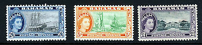 BAHAMAS Queen Elizabeth II 1954-63 High Values SG 213, SG 214a & SG 216 MINT