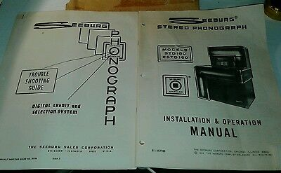 Seeburg Std160 Estd 160 Jukebox Owners Manual & Trouble Shooting Guide
