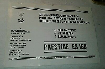 Nsm Prestige Es 160 Jukebox Service Manual In German