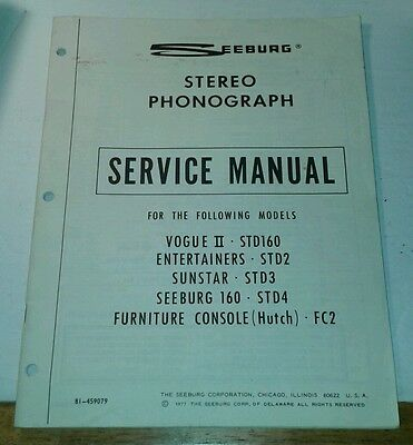 SEEBURG 160 etc Jukebox Service Manual