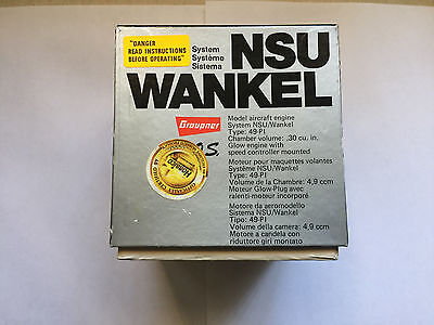 NSU Wankel Type 49-PI RC Rotary Motor NEW  Motor has never been mounted or ran