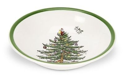 Spode Christmas Tree Dessert Cereal Fruit Nut Bowl Made in England (C3) Holiday