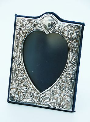 Antique Silver Heart shaped picture frame