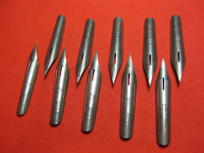 10 Vintage Pen Nibs   T.Hessin & Co   No 6  F  Mark With The Crown Of England
