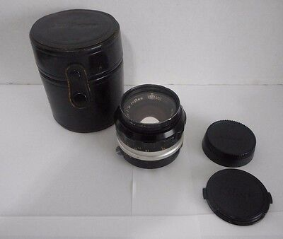 Nikon Nikkor - S.C Auto 1:14 f=50mm #1571602 W/ Caps And Case