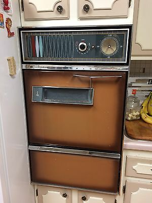 Vintage Caloric Gas Wall Oven 1960's Brown