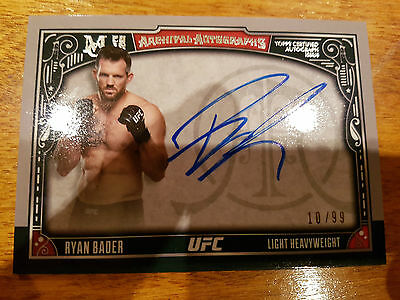 2016 Ufc Museum Collection Archival Autographs Ryan Bader #10/99