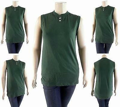 NWT Southern Athletic Blank Softball Sport Top Dark Green