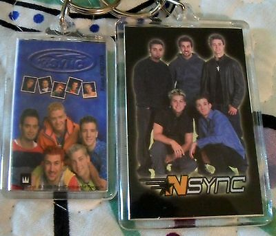 2 NSYNC Band Music Group Keychains Key Chain Rings FREE Shipping stocking stuff
