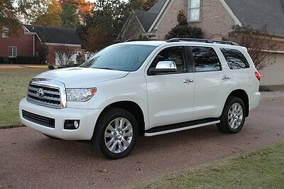 2014 Toyota Sequoia Platinum 4WD Perfect Carfax Great Service History Navigation 20's TV/DVD Original MSRP $66598