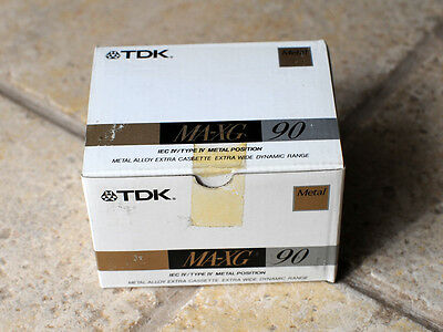 TDK MA-XG 90 minutes cassette tapes Brand New! Box of 5