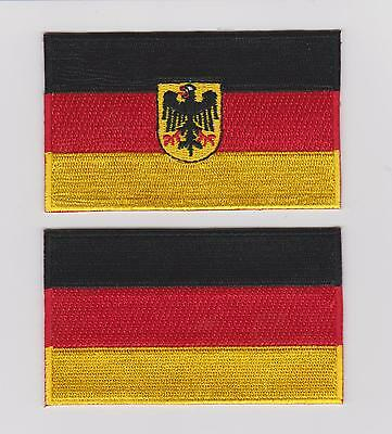 GERMAN FLAG PATCH IRON/SEW ON GERMANY Deutsche Flagge PATCH LOT OF TWO