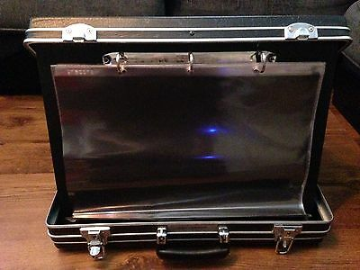 Potterton Presentation Display/flip Board Storage Brief Case With Key Lock