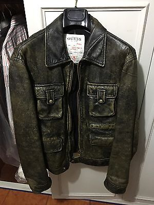 Giacca in pelle Vintage Guess taglia L