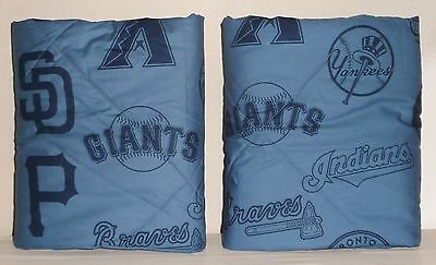 POTTERY BARN PB TEEN MLB STANDARD Shams, SET OF 2, BLUE, NEW