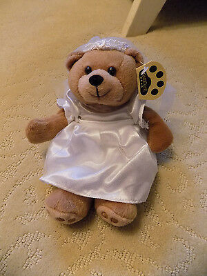 Forever Bear Wedding Collection Bride Plush Beanie EVE w/ tag in Gown & Veil 90