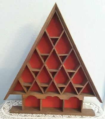 Wooden Thimble /Ornament Display  Rack Freestanding