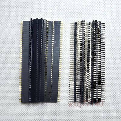 "10 Pair 0.1""/2.54mm 40 pin header male and female for Arduino PCB Breadboard DIY"