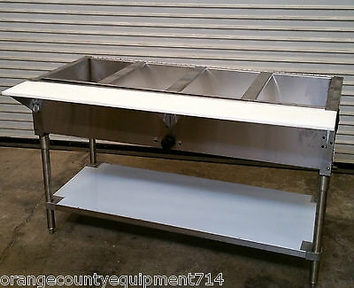 NEW 4 Well Gas Steam Table Water Bath #3394 Commercial Taco Mexican Resaturant