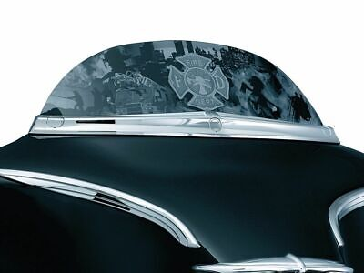 Kuryakyn Chrome Deluxe Windshield Batwing Top Trim Accent Harley Touring Dresser