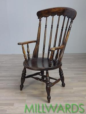 Antique Welsh Country Victorian Elm and Beech Arm Chair