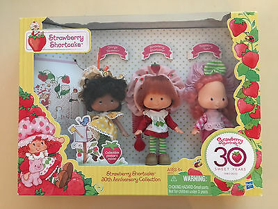 HTF Strawberry Shortcake 30th Anniversary Set Of 3 Vintage Style Original Dolls