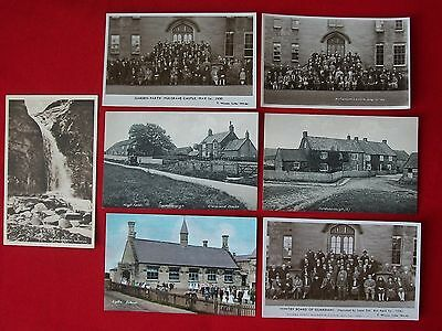 LOT OF 7x REAL & PRINTED POSTCARDS. TOM WATSON. WHITBY. YORKSHIRE.