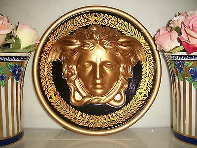 "****Rare GIANNI VERSACE 30cm 1996 ""GOLD BAROQUE"" Shop-Wall Plaque  ** LAST ONE *"