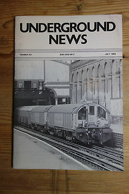 Underground News Number 331 July 1989 (Piccadilly Circus, Madrid, Timetables)
