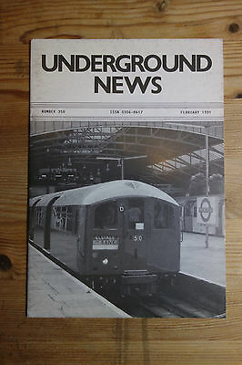 Underground News Number 350 Feb 1991 (Christmas, Stockwell, Stock changes)