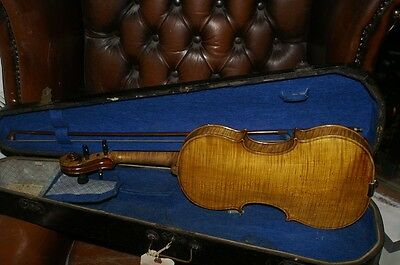 Old antique violin from the 19th century, repair project