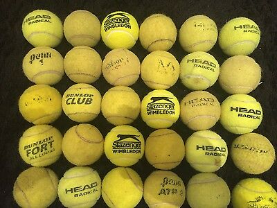 30 x Good Condition Used Tennis Balls - Different Brands
