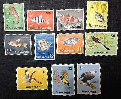 Singapore. 1962. Fish And Birds Mint Set Of 11. Values To 5 Dollars.scarce!