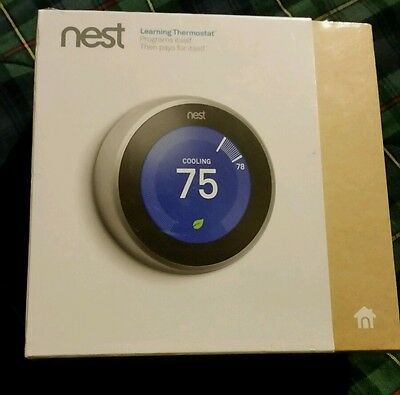 Nest thermostat 3rd generation brand new and sealed