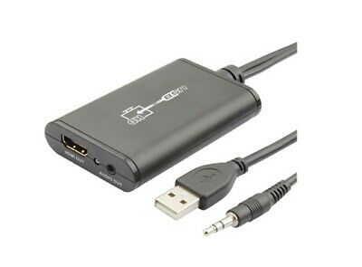 CONVERTITORE SCHEDA VIDEO ESTERNA DA USB + AUDIO JACK 3.5mm IN A HDMI OUT- UP TO