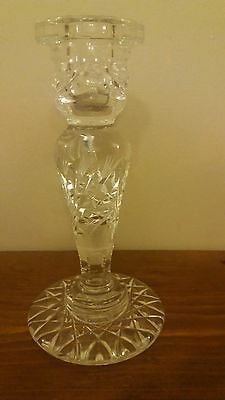 """Vintage Crystal/cut Glass Candlestic, 7"""" Tall"""