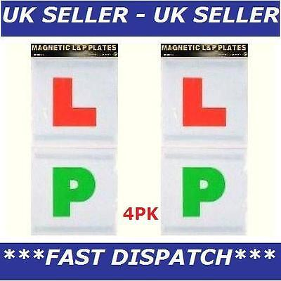 New 4Pk Magnetic Learner Driver x2 P Plate x2 Car L&P, Secure Safe Exterior Sign