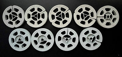 "9 Vintage Plastic 8mm Movie Film Reels, 3"", 4 Kodak & misc."