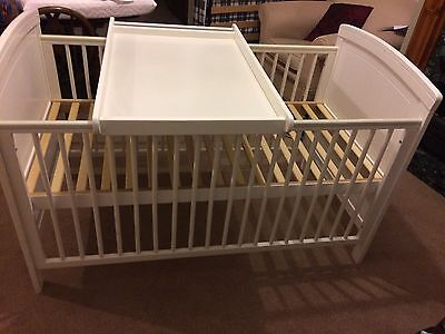 Cot Bed Toys R Us White With Changing Tray