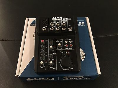 Alto ZMX52 Professional 5 Channel 2-Bus Compact PA Mixer with Zephyr Mic Preamps