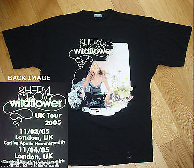 Sheryl Crow Wildflower Vintage Uk Concert Tour 2005 Small T Shirt New