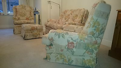 Parker Knoll Sofa, footstool and two armchairs