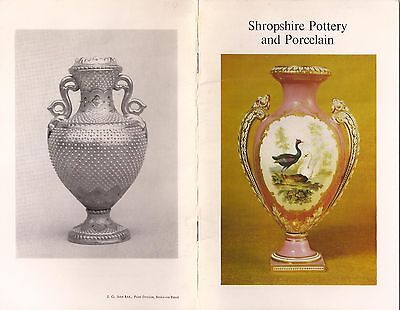 Shropshire Pottery And Porcelain 1976 Museum Collection Booklet.