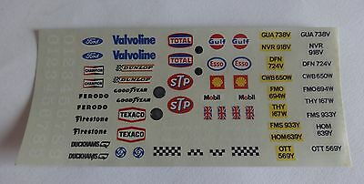 Scalextric Decal Set ~ FORD/GUA 738V/DFN 724V. Original Waterslide